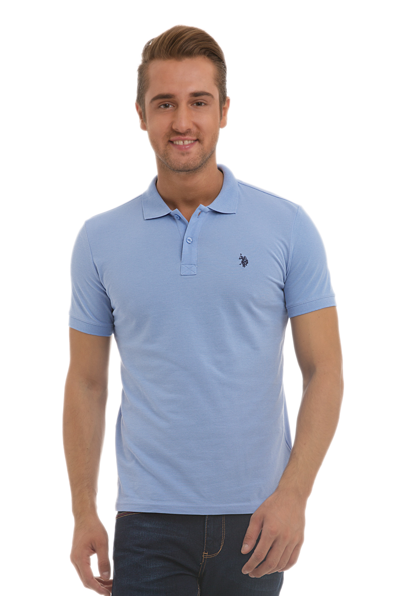 Поло мужское U.S. Polo Assn., цвет: голубой. G081GL0110GTP04IY6_MV0261. Размер XS (42/44) поло женское u s polo assn цвет белый g082cs011u02tp15iy4 размер xs 42