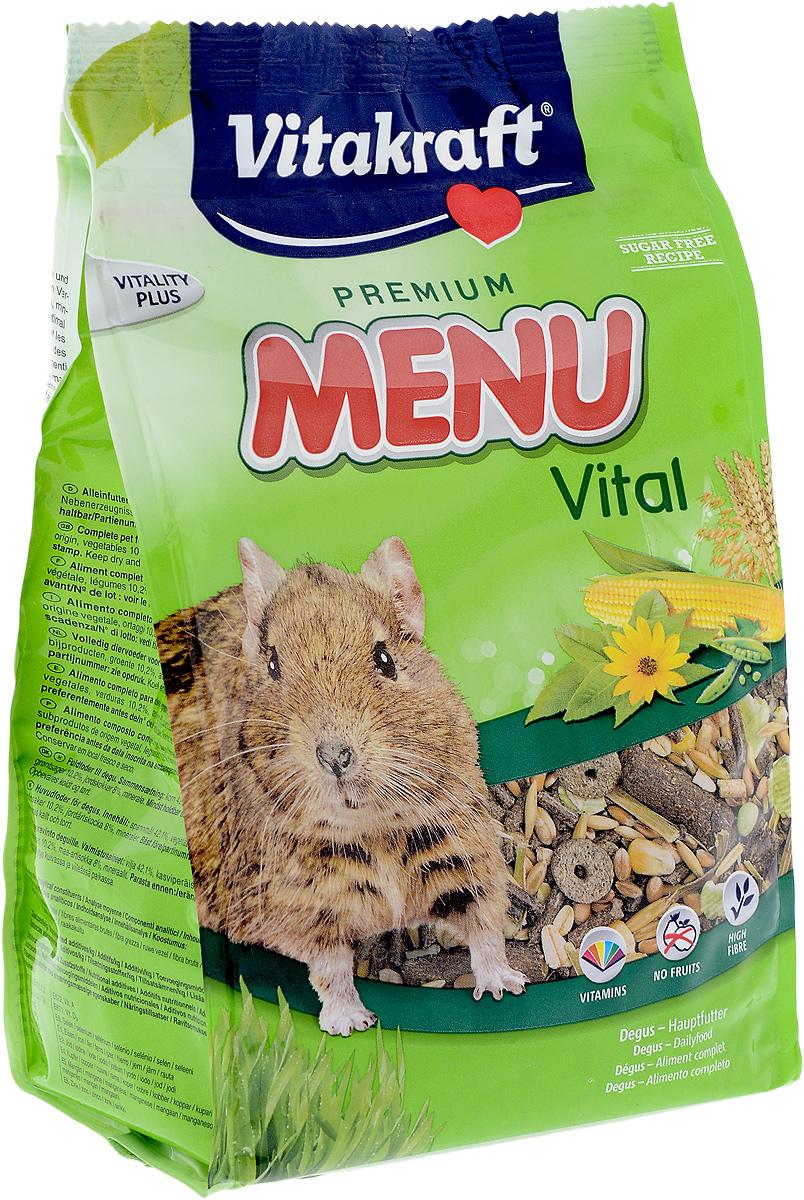 Корм для дегу Vitakraft Premium Menu Vital, 600 г vitakraft корм для хомяков vitakraft menu vital 400 г