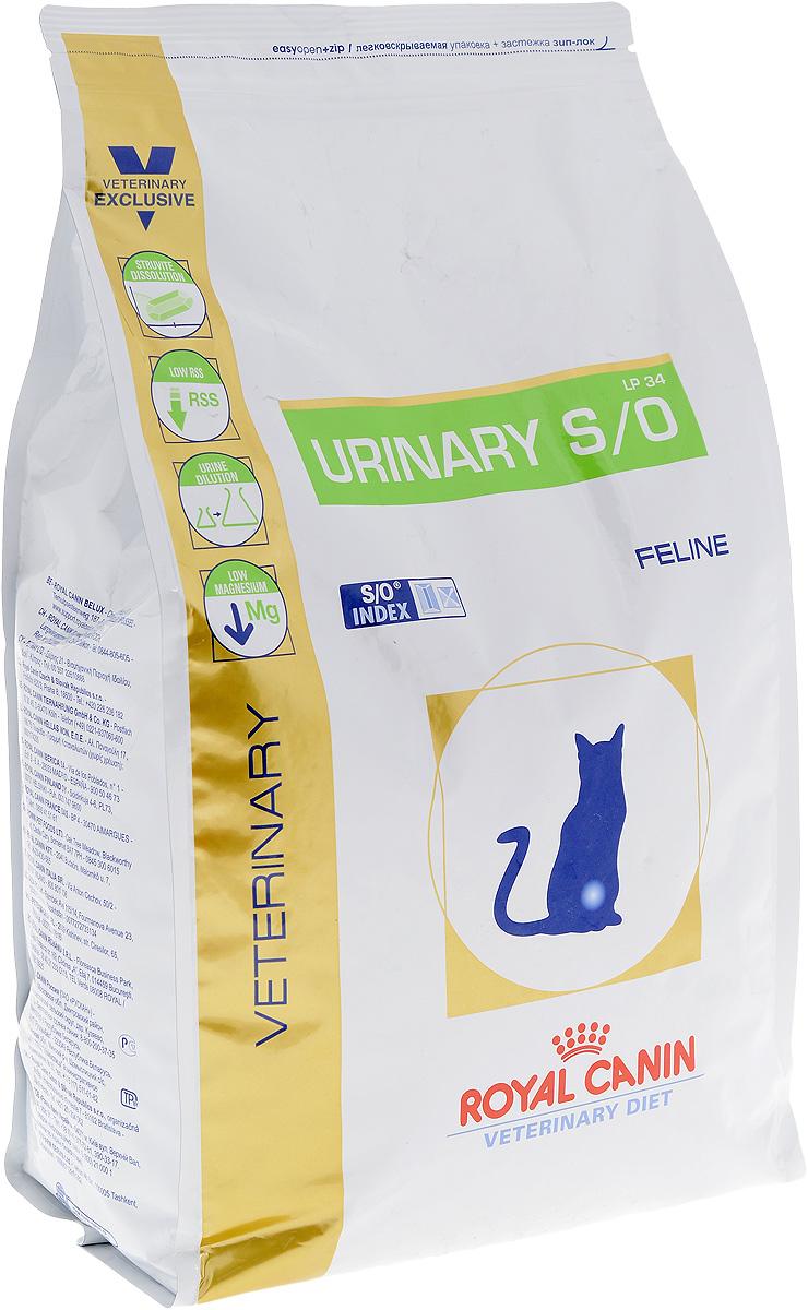 """Корм сухой диетичесий Royal Canin """"Urinary S/O LP34"""" для кошек, при заболеваниях мочекаменной болезнью, 3,5 кг"""