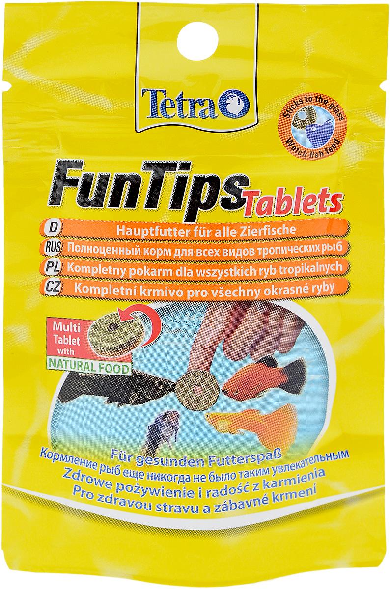 Корм Tetra FunTips Tablets для всех видов тропических рыб, 8 г, 20 таблеток254305Корм Tetra FunTips Tablets - это полноценный корм для всех видов тропических рыб, состоящий из хлопьев и сублимированных микроорганизмов и спрессованный в виде таблеток.Корм уникален тем, что может быть приклеен к аквариумному стеклу. Таблетки прикрепляются к стеклу, что предоставляет хозяину аквариума возможность наблюдать за рыбками в период кормления.Применение: кормить несколько раз в день маленькими порциями. Состав: молоко и молочные продукты, моллюски и ракообразные (в том числе дафния 9,5%, артемия 6%, гаммарус 4,5%, ракообразные 2%), рыба и побочные рыбные продукты, растительные экстракты белка, зерновые, дрожжи, водоросли (спирулина 1,8%), масла и жиры, сахар, минеральные вещества.Товар сертифицирован.