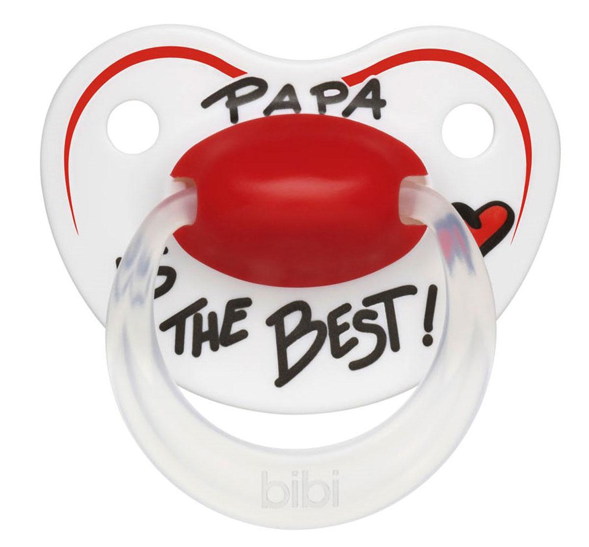 Bibi Пустышка силиконовая Premium Dental Happiness Papa от 0 до 6 месяцев happiness basics толстовка