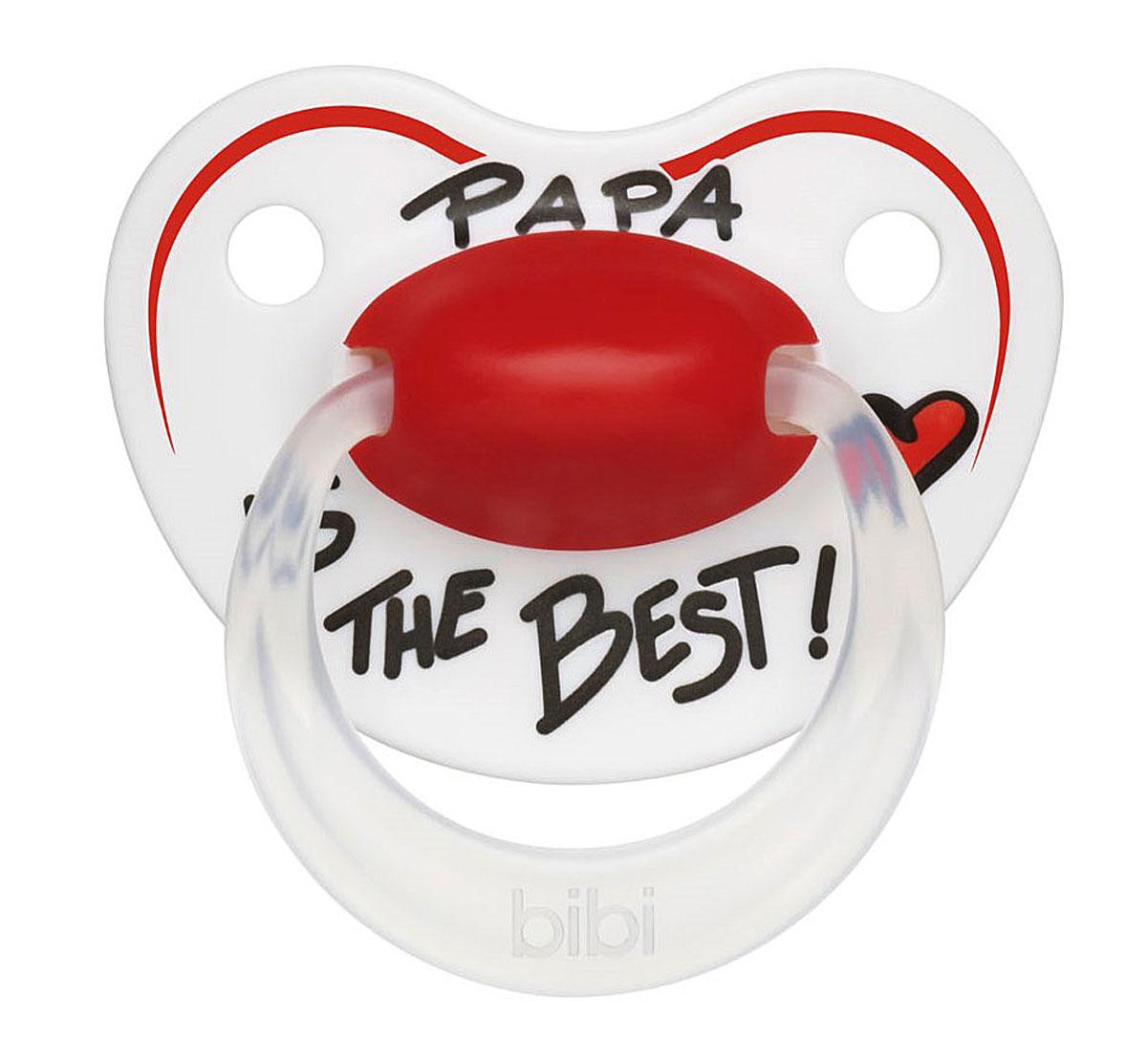 Bibi Пустышка силиконовая Premium Dental Happiness Papa от 6 до 16 месяцев happiness basics толстовка