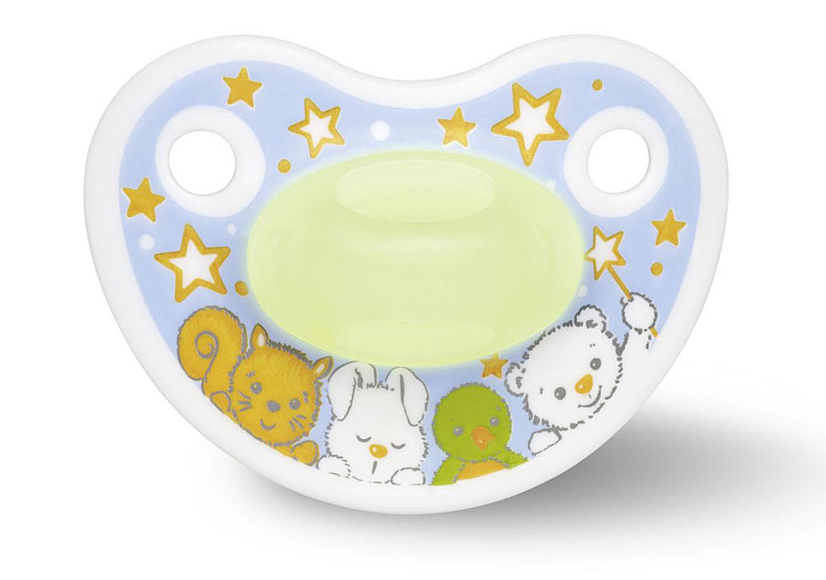 Bibi Пустышка силиконовая Premium Dental Happiness Glow in the Dark от 6 до 16 месяцев happiness basics толстовка