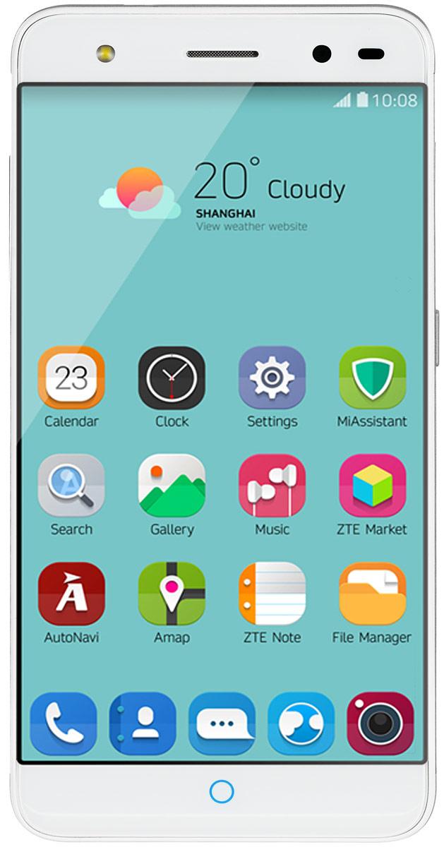ZTE Blade V7 Lite, SilverZTE BLADE V7 LITE 4G SILVERZTE Blade V7 Lite - стильный и недорогой смартфон с большим экраном 5, сканером отпечатков пальцев и двумя SIM-картами.Благодаря четырехъядерному процессору MediaTek MT6735P с тактовой частотой 1 ГГц смартфон работает чрезвычайно шустро. Пользователю обеспечены быстрый запуск и уверенная работа практически любых приложений, а также плавное воспроизведение видео.Смартфон имеет 5-дюймовый дисплей с разрешением 1280х720 пикселей. Он достаточно яркий, не вынуждает владельца напрягать глаза, обеспечивает четкое, разборчивое изображение и экономно расходует энергию аккумулятора.ZTE Blade V7 Lite оснащен двумя камерами - основной и фронтальной. Основная предназначена для фото- и видеосъемки, для этого у нее есть 13-мегапиксельная матрица, автофокус и светодиодная вспышка, благодаря чему владелец может снимать фото и видео, которыми не стыдно поделиться с окружающими. Фронтальная 8-мегапиксельная камера предназначена для видеосвязи, также с ее помощью можно снимать яркие и необычные селфи.Телефон сертифицирован EAC и имеет русифицированный интерфейс меню, а также Руководство пользователя.Телефон для ребёнка: советы экспертов. Статья OZON Гид