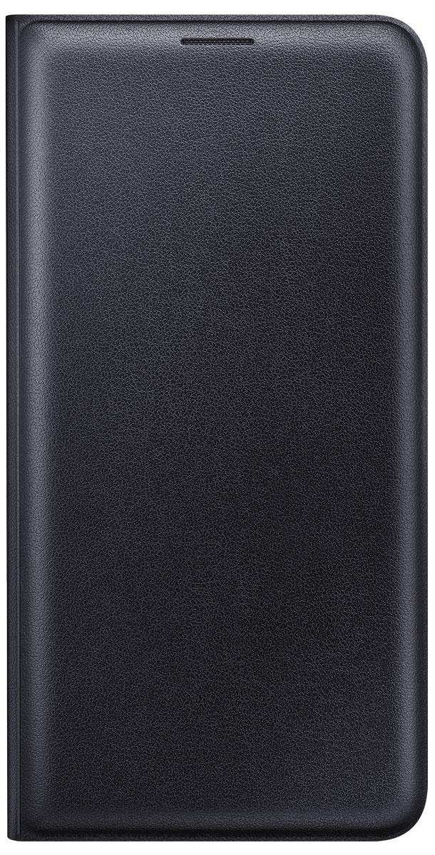 Samsung EF-WJ710P Flip Wallet чехол для Galaxy J7 (2016), BlackEF-WJ710PBEGRUС чехлом Samsung Flip Wallet смартфону Samsung Galaxy J7 (2016) обеспечена всесторонняя защита. Особенностью данного аксессуара является многофункциональность. Он не только предохраняет девайс от нежелательных воздействий окружающей среды, но и выполняет роль бумажника. Внутренний кармашек можно использовать для хранения визитки или кредитной карты. Чехол выполнен из мягкой эко-кожи, приятен на ощупь. Качественные материалы чехла обеспечивают смартфону долгий срок эксплуатации.