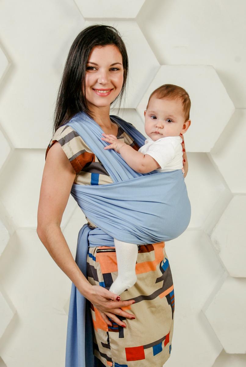 Мамарада Слинг-Шарф для новорожденных Небесный размер 42-52 -  Рюкзаки, слинги, кенгуру