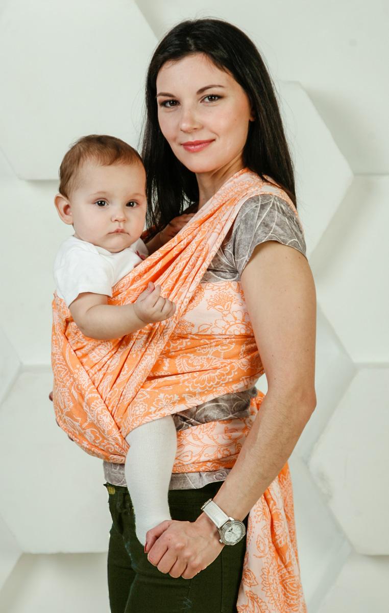 купить Мамарада Слинг-шарф Магические огурцы Soft Оранж размер 5,2 недорого