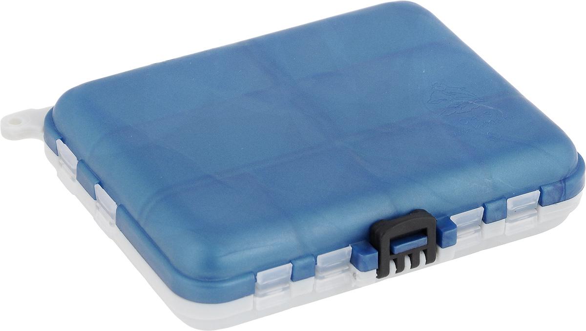 Контейнер для рукоделия Три кита, двухсторонний, цвет: серый, синий, 12 х 10 х 3 см8952818_серый,синийУдобная пластиковая коробка Три кита прекрасно подойдет для хранения и транспортировки различных мелочей. Коробка имеет 16 фиксированных секций. Удобный и надежный замок обеспечивает надежное закрывание коробки. Такая коробка поможет держать вещи в порядке. Размер малых секций: 2,7 х 2,5 см. Размер больших секций: 3 х 5,5 см. Размер коробки: 12 х 10 х 3 см.