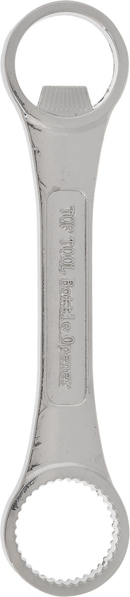 Открывалка для бутылок Эврика Механик96578Надежная и удобная открывалка для пивных бутылок Эврика Механик, выполненная из нержавеющей стали в форме кольцевого гаечного ключа, это отличный подарок мужчине, умеющему и работать, и отдыхать. Открывалка упакована в подарочную картонную коробку с пенополиуретановым ложементом.