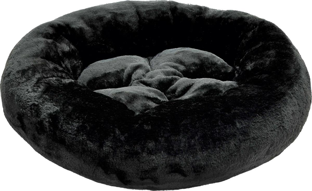 Лежак для животных Зооник, цвет: черный, 48 х 15 см. 22303 лежак для кошек и собак гамма 58 х 38 х 22 см