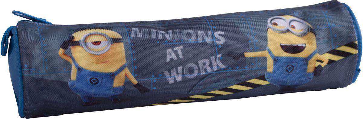 Universal Пенал-тубус Миньоны на работе11438785Компактный пенал-тубус на молнии от Universal Миньоны на работе - это супермодный аксессуар, который надежно сохранит все мелкие школьные принадлежности в целости и сохранности, защитив их от влаги. Аксессуар изготовлен из износостойкой, водонепроницаемой ткани, поэтому служить будет долго. Изделие декорировано стильным принтом с изображением очаровательных миньонов. Такой пенал от Universal Миньоны на работе всегда поместиться в рюкзак вашего ребенка и займет нужное место среди его школьных аксессуаров.