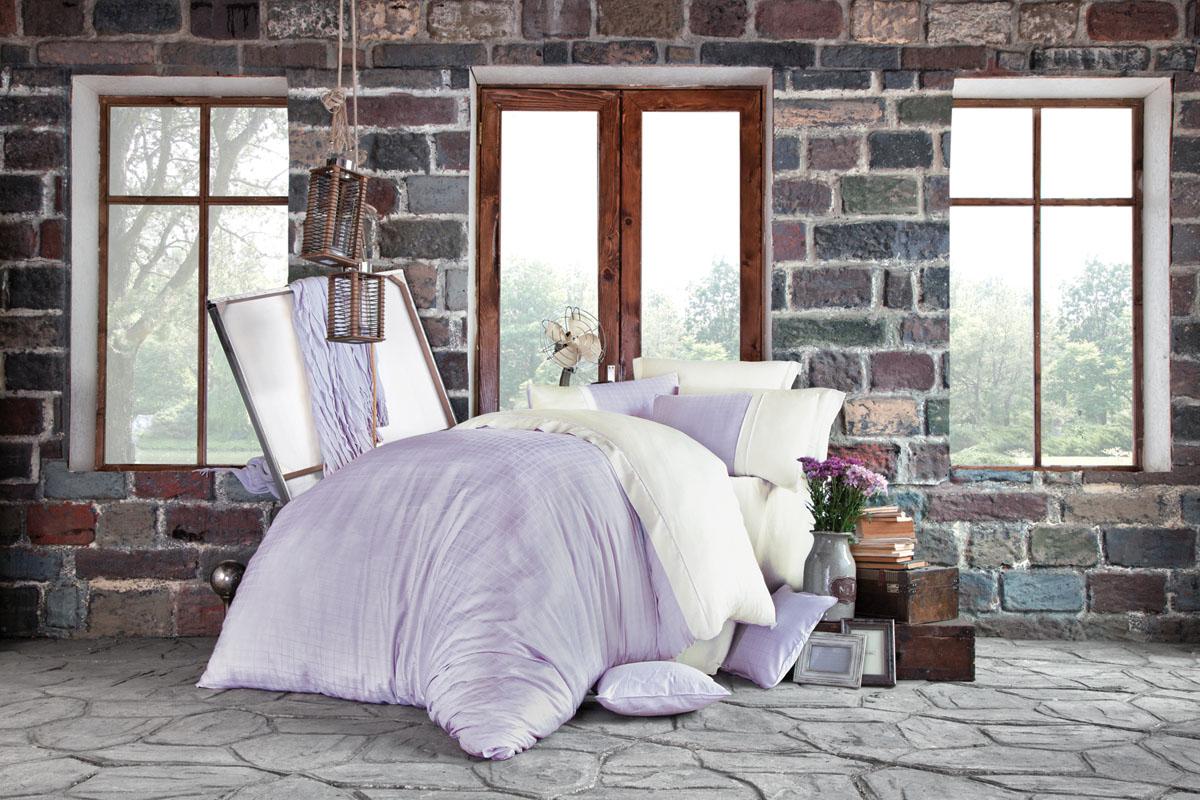 Комплект белья Issimo Home Petra, евро, наволочки 50x70, цвет: лиловый. 4620 полотенце бамбуковое issimo home valencia цвет розовый 90 x 150 см