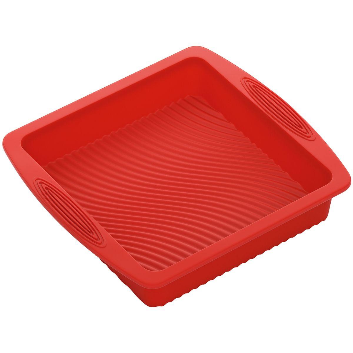 Форма для выпечки Nadoba Mila, силиконовая, квадратная, 26 х 24 х 5 см форма для маффинов nadoba mila 762015