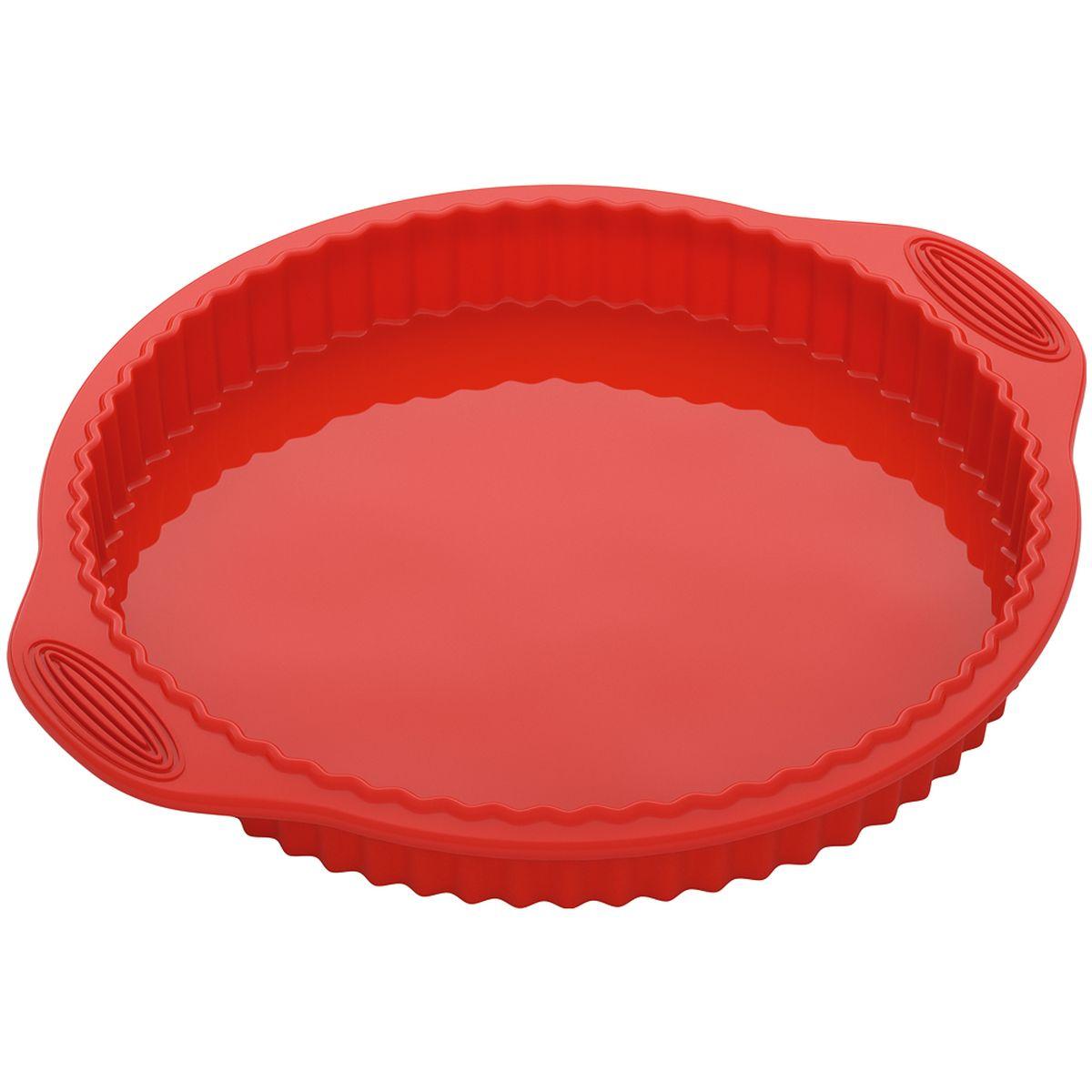 Форма для выпечки Nadoba Mila, круглая, силиконовая, диаметр 28 см762018Форма для выпечки Nadoba Mila, изготовленная из высококачественного жаропрочного силикона, выдерживающего температуру от -40°C до +230°C. Выпечка легко вынимается и не пригорает. Форма легко моется и ее удобно хранить в сложенном виде Если вы любите побаловать своих домашних вкусным и ароматным угощением по вашему оригинальному рецепту, то форма Nadoba как раз то, что вам нужно!Размер формы с учетом ручек: 32 x 28 см.Внутренний диаметр формы: 25 см.Высота формы: 6 см.
