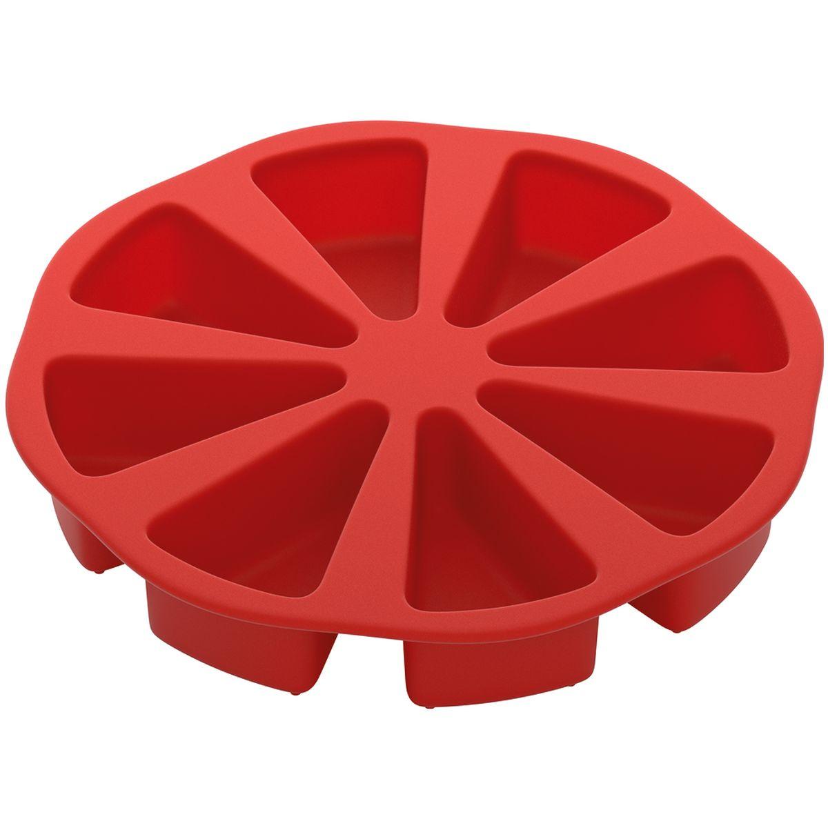Форма для выпечки Nadoba Mila, силиконовая, диаметр 26 см762024Форма для выпечки Nadoba Mila изготовлена из высококачественного жаропрочного силикона, отвечающего самому строгому европейскому стандарту качества. Изделие отличается стойкостью к высоким температурам, а также обладает антипригарными свойствами, за счет чего выпечка легко вынимается и не пригорает. Форма не прихотлива, ее легко мыть и удобно хранить. Изделие идеально подходит для выпекания порционного торта. Форма обладает широким диапазоном рабочих температур от -40°С до +230°С, поэтому пригодна для любых типов духовок, микроволновой печи и морозильной камеры. Можно мыть в посудомоечной машине.