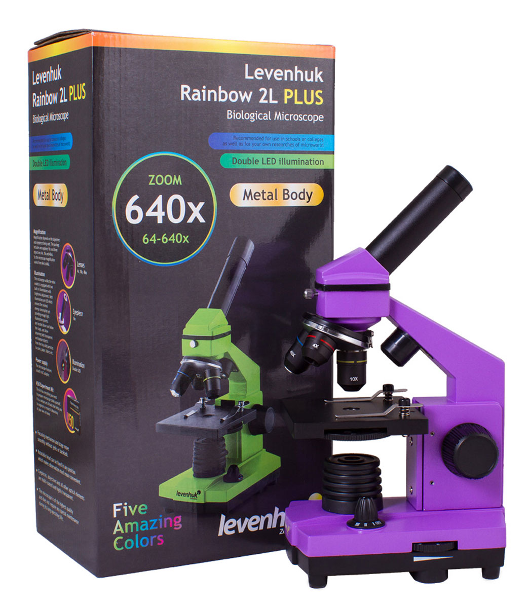 Levenhuk Rainbow 2L Plus, Amethystмикроскоп Levenhuk