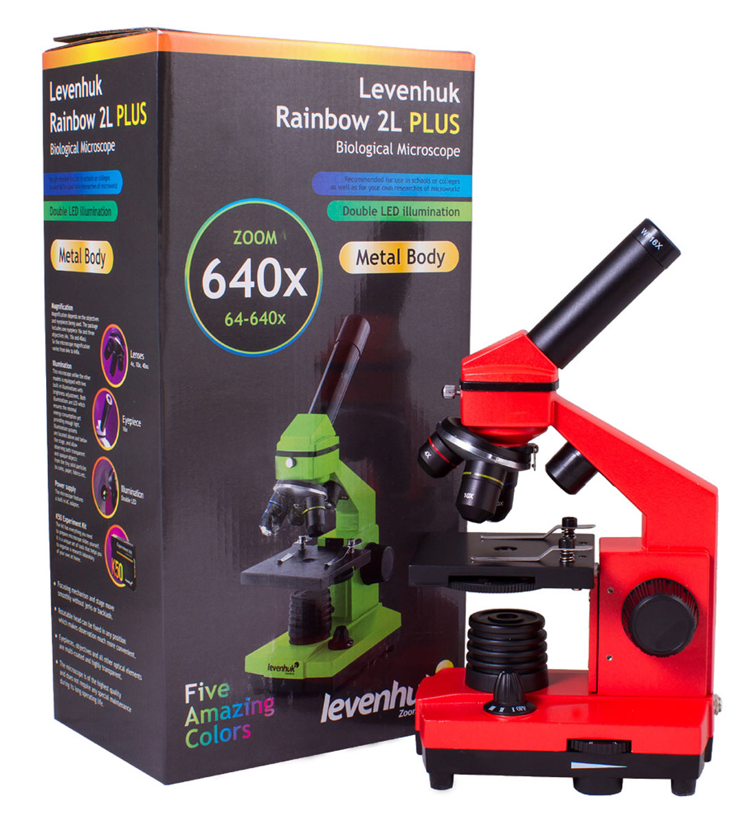 Levenhuk Rainbow 2L Plus, Orangeмикроскоп Levenhuk