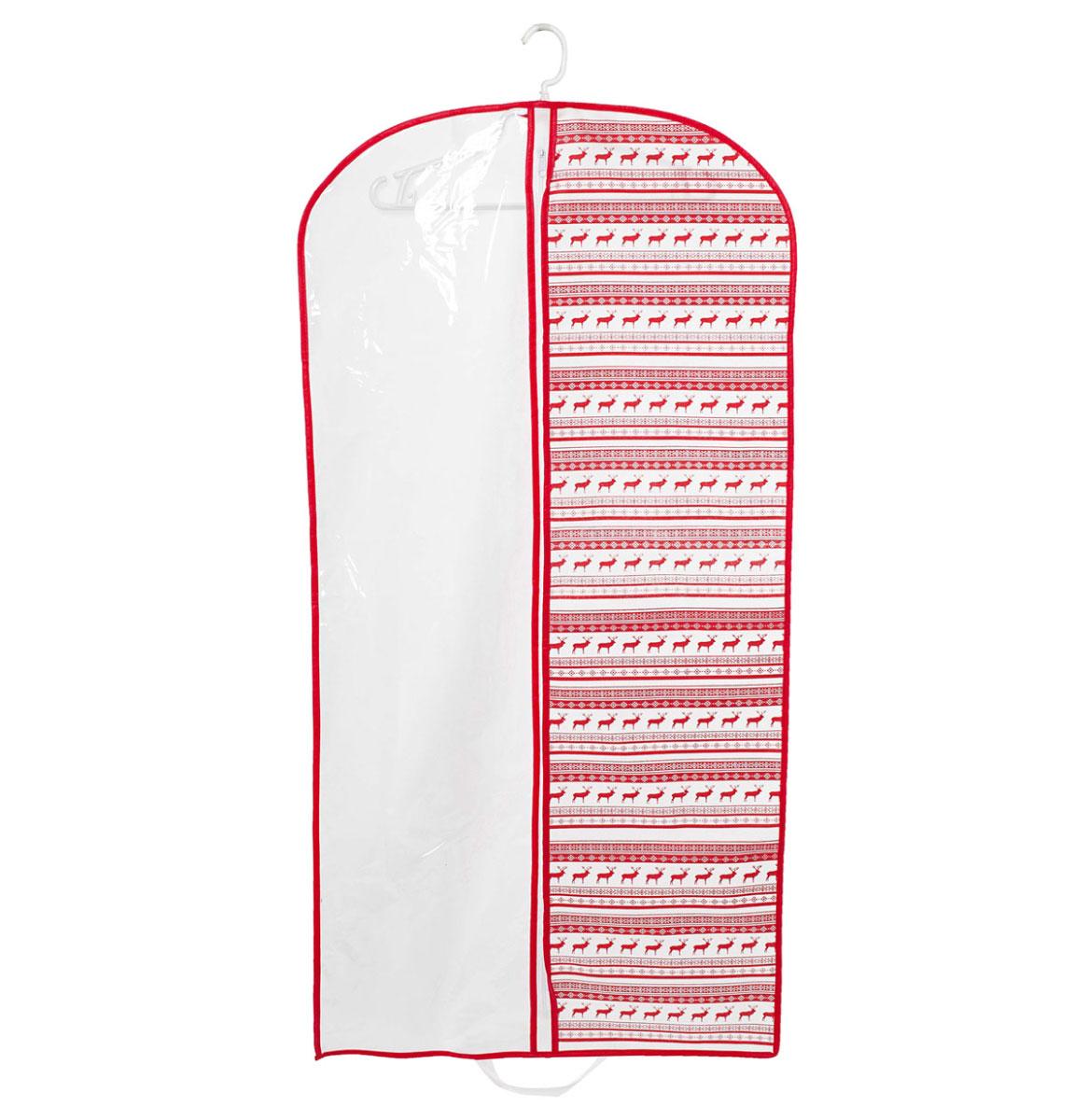 Чехол для одежды Homsu Scandinavia, подвесной, с прозрачной вставкой, 120 х 60 смHOM-204Подвесной чехол для одежды Homsu Scandinavia на застежке-молнии выполнен из высококачественного нетканого материала. Чехол снабжен прозрачной вставкой из ПВХ, что позволяет легко просматривать содержимое. Изделие подходит для длительного хранения вещей.Чехол обеспечит вашей одежде надежную защиту от влажности, повреждений и грязи при транспортировке, от запыления при хранении и проникновения моли. Чехол позволяет воздуху свободно поступать внутрь вещей, обеспечивая их кондиционирование. Это особенно важно при хранении кожаных и меховых изделий.Чехол для одежды Homsu Scandinavia создаст уютную атмосферу в гардеробе. Лаконичный дизайн придется по вкусу ценительницам эстетичного хранения и сделают вашу гардеробную изысканной и невероятно стильной.Размер чехла: 120 х 60 см.