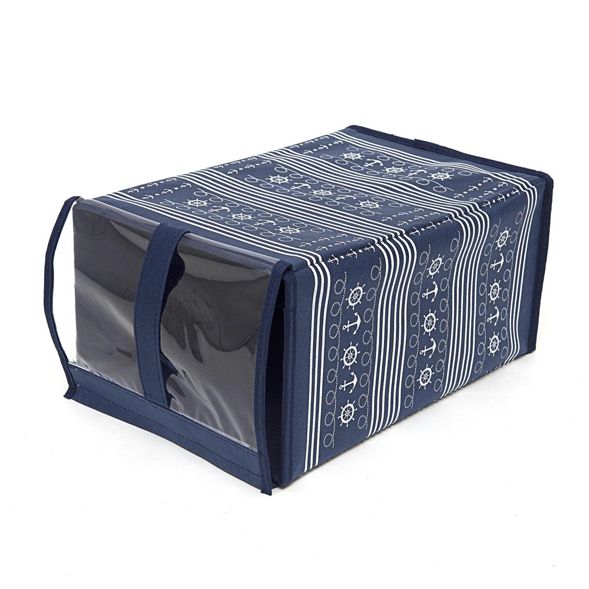 Кофр для хранения обуви Homsu Ocean, 33 х 16 х 22 смHOM-225Кофр Homsu Ocean изготовлен из высококачественного нетканого материала с фирменным орнаментом, который позволяет сохранять естественную вентиляцию, а воздуху свободно проникать внутрь, не пропуская пыль. Благодаря специальной картонной вставке, кофр прекрасно держит форму, а эстетичный дизайн гармонично смотрится в любом интерьере. Изделие идеально подходит для хранения обуви. Мобильность конструкции обеспечивает складывание и раскладывание одним движением. Кофр Homsu Ocean - это новый взгляд на систему хранения - теперь хранить вещи не только удобно, но и красиво. Прозрачная вставкаиз ПВХ позволяет видеть содержимое.Размер кофра: 33 х 16 х 22 см.