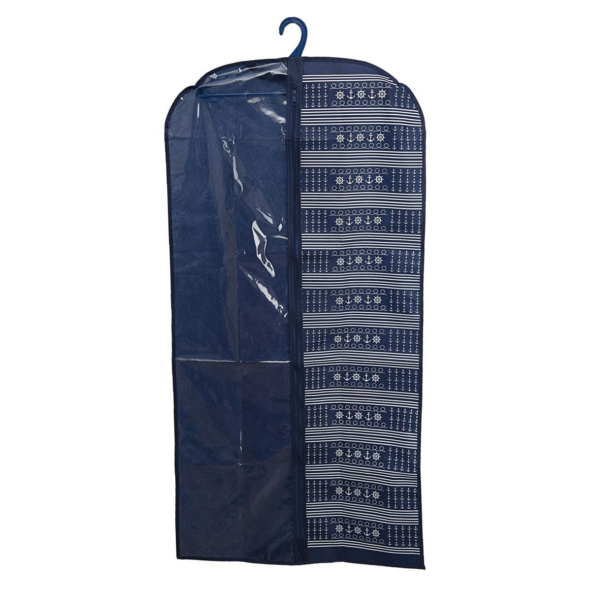 Чехол для одежды Homsu Ocean, подвесной, с прозрачной вставкой, 120 х 60 смHOM-228Подвесной чехол для одежды Homsu Ocean на застежке-молнии выполнен из высококачественного нетканого материала. Чехол снабжен прозрачной вставкой из ПВХ, что позволяет легко просматривать содержимое. Изделие подходит для длительного хранения вещей.Чехол обеспечит вашей одежде надежную защиту от влажности, повреждений и грязи при транспортировке, от запыления при хранении и проникновения моли. Чехол позволяет воздуху свободно поступать внутрь вещей, обеспечивая их кондиционирование. Это особенно важно при хранении кожаных и меховых изделий.Чехол для одежды Homsu Ocean создаст уютную атмосферу в гардеробе. Лаконичный дизайн придется по вкусу ценительницам эстетичного хранения и сделают вашу гардеробную изысканной и невероятно стильной.Размер чехла: 120 х 60 см.