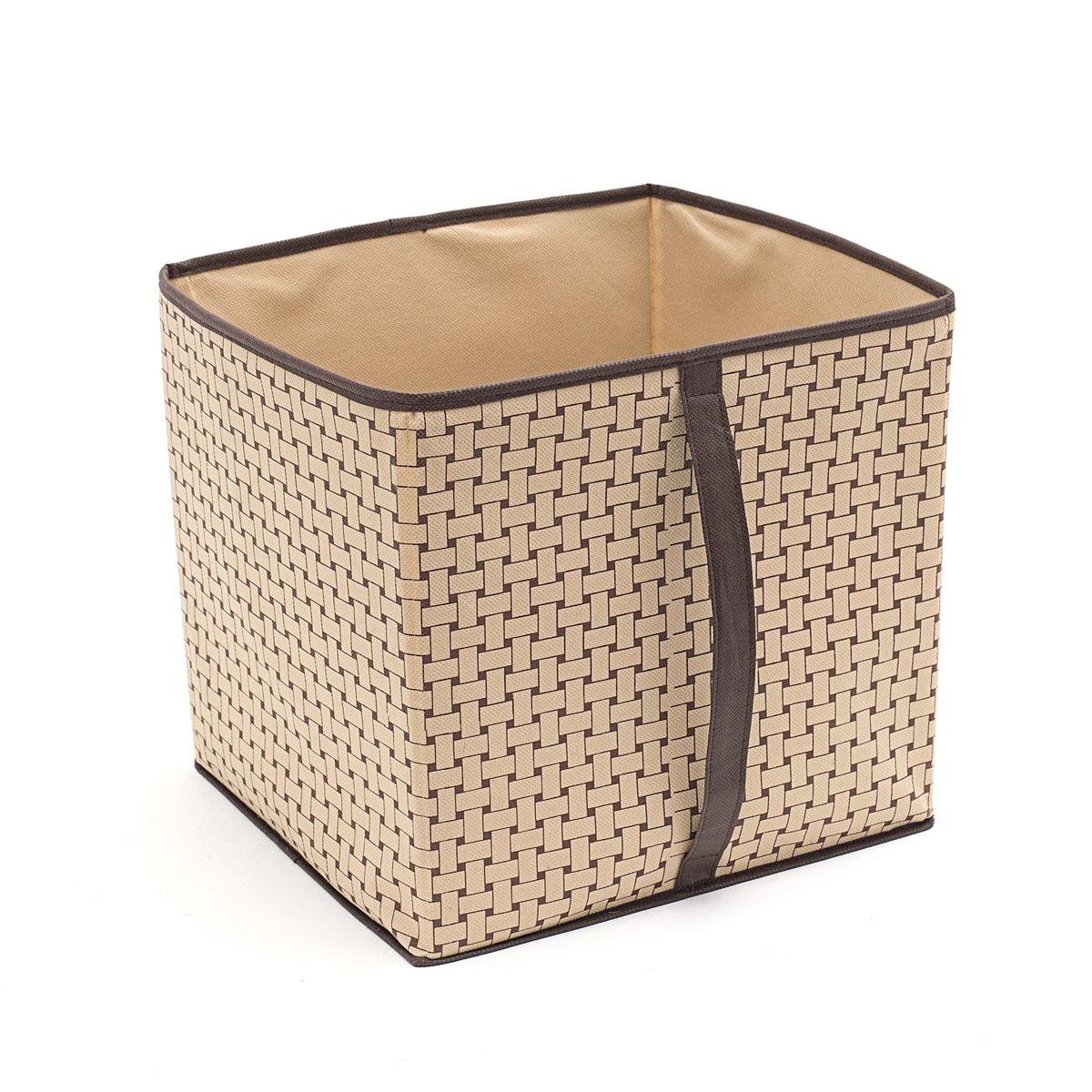 Кофр для хранения Homsu Pletenka, 30 х 33 х 32 смHOM-301Кофр для хранения Homsu Pletenka изготовлен извысококачественного нетканого полотна. Кофр имеетоднобольшое отделение, где выможете хранить различные бытовые вещи, нижнеебелье, одежду и многое другое. Вставки из картонаобеспечивают прочность конструкции.Стильный принт, модный цвет и качество исполнениясделают такой кофр незаменимым для храненияваших вещей.