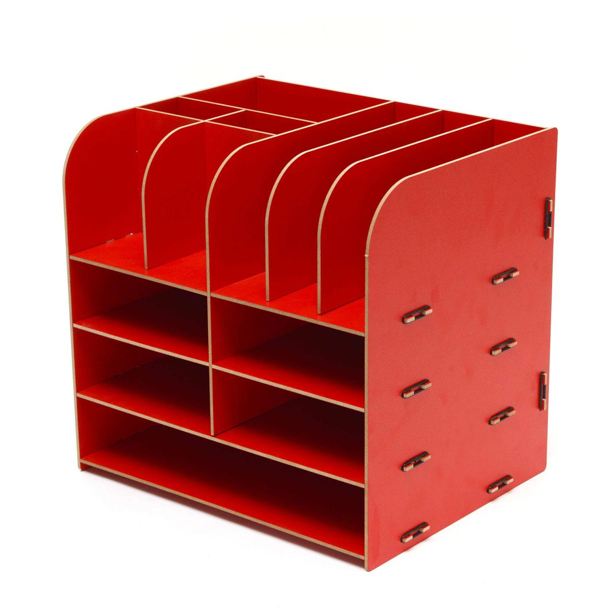 Органайзер настольный Homsu, цвет: красный, 13 отделов, 32,5 x 25 x 30 смHOM-69Настольный органайзер Homsu выполнен из МДФ и легко собирается из съемных частей. Изделие имеет 13 отделений для хранения документов, канцелярских предметов и всяких мелочей. Органайзер просто незаменим на рабочем столе, он вместителен и не занимает много места. Оригинальный дизайн дополнит интерьер дома и разбавит цвет в скучном сером офисе. Размер: 32,5 х 25 х 30 см.