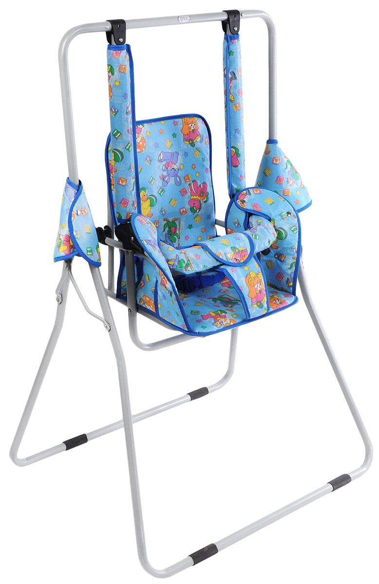 Фея Качели детские Малыш Клоуны цвет голубой детские качели в квартиру