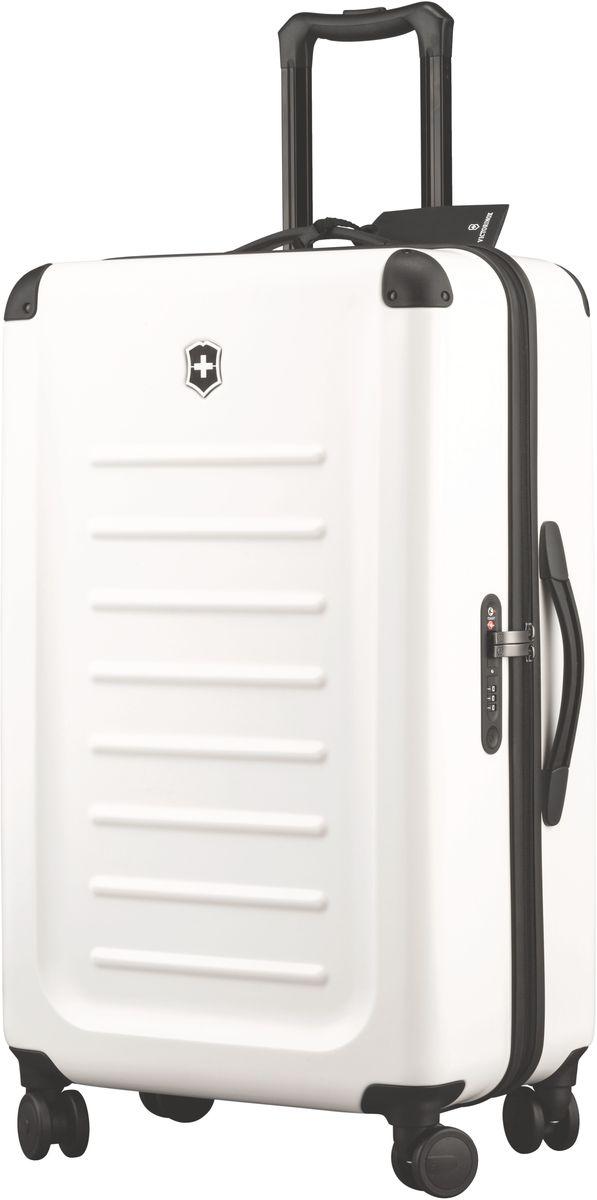Чемодан Victorinox Spectra, цвет: белый. 3131850231318502Оригинальный швейцарский армейский нож «Swiss Army» был создан в 1897 году в небольшой деревушке Ибах в Швейцарии.С тех пор продукция,выпускаемая под маркой «Victorinox» с ее узнаваемым логотипом в виде креста на щите,по праву считается эталоном отличного качества,высокой функциональности,инновационных технологий и культового дизайна.Наша преданность принципам в течение последних 130 лет позволила нам создавать продукты,которые являются выдающимися не только по дизайну и качеству,но которые также являются надежными спутниками в больших и маленьких жизненных приключениях. Сегодня мы с гордостью представляем линейку сумок,чемоданов и дорожных аксессуаров,которые наилучшим образом воплощают в себе данные принципы,а также сочетают в себе черты нашего лучшего классического стиля.Victorinox привносит инновации в жесткие чемоданы коолекции Spectra 2.0.Специально разработанные для того,чтобы путешестия с жесткими чемоданами были удобнее,изысканные,стильные модели для ручной клади имеют на передней стороне крышку на молнии для быстрого доступа и организациооную секцию для того,чтобы у вас была возможность на ходу получить доступ к вещам,которые больше всего могут вам понадобиться в путешествии:ноутбук,планшет,билеты,паспорт и другое.Такая конструкция с двумя вариантами доступа позволяет вам паковать вещи с двух сторон:через крышку быстрого доступа на передней части или,открывосновное отделение чемодана.Разработаны ультра-легкими,но не в ущерб долговечности,чемоданы из 100%поликарбоната Bayer имеют стильную матовую поверхность,устойчивую к царапинам и защитные кожухи на углах.Система восьми колес,обеспечивающих стабильный и мягкий ход,и удобная жвойная ручка — все это гарантирует исключительную функциональностьчемоданов Spectra 2.0. Дверца для быстрого доступа содержит организационное пространство для ноутбука,планшета,смартфона,паспорта,билетов и других вещейБлагодаря 100% поликарбонату Bayer легкий вес чемодана успешн