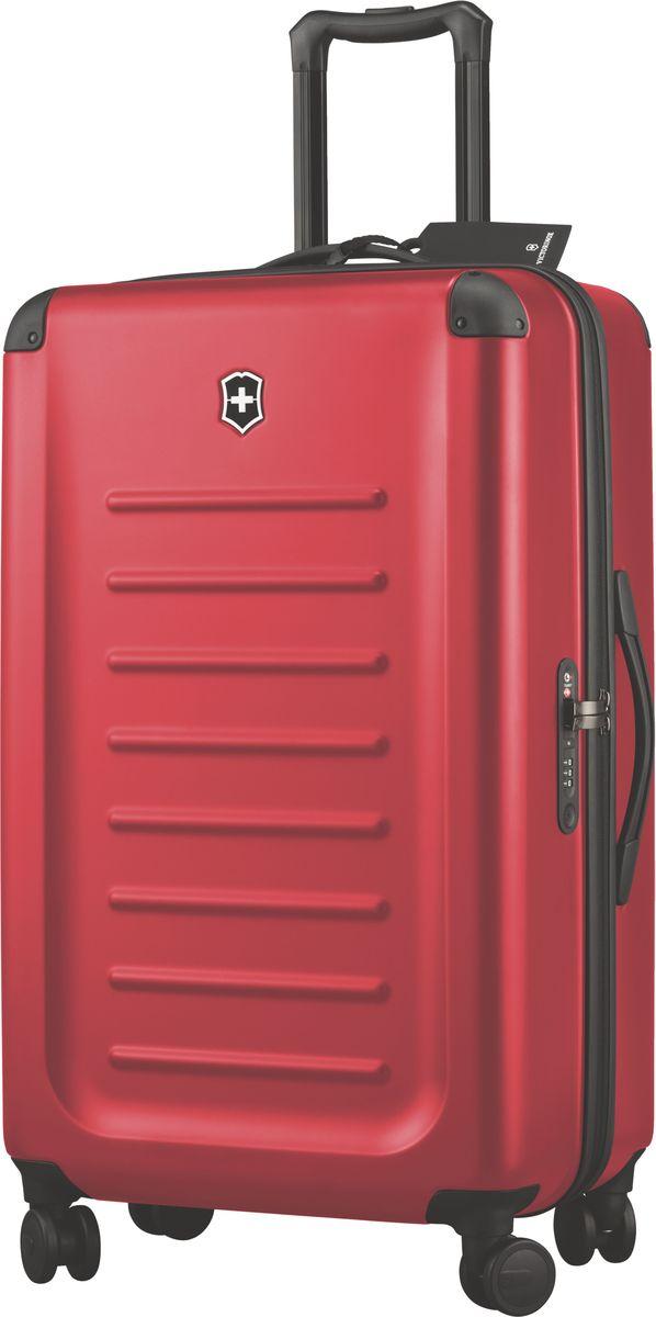 Чемодан Victorinox Spectra, цвет: красный. 3131850331318503Оригинальный швейцарский армейский нож «Swiss Army» был создан в 1897 году в небольшой деревушке Ибах в Швейцарии.С тех пор продукция,выпускаемая под маркой «Victorinox» с ее узнаваемым логотипом в виде креста на щите,по праву считается эталоном отличного качества,высокой функциональности,инновационных технологий и культового дизайна.Наша преданность принципам в течение последних 130 лет позволила нам создавать продукты,которые являются выдающимися не только по дизайну и качеству,но которые также являются надежными спутниками в больших и маленьких жизненных приключениях.Сегодня мы с гордостью представляем линейку сумок,чемоданов и дорожных аксессуаров,которые наилучшим образом воплощают в себе данные принципы,а также сочетают в себе черты нашего лучшего классического стиля. м Victorinox привносит инновации в жесткие чемоданы коолекции Spectra 2.0.Специально разработанные для того,чтобы путешестия с жесткими чемоданами были удобнее,изысканные,стильные модели для ручной клади имеют на передней стороне крышку на молнии для быстрого доступа и организациооную секцию для того,чтобы у вас была возможность на ходу получить доступ к вещам,которые больше всего могут вам понадобиться в путешествии:ноутбук,планшет,билеты,паспорт и другое.Такая конструкция с двумя вариантами доступа позволяет вам паковать вещи с двух сторон:через крышку быстрого доступа на передней части или,открывосновное отделение чемодана.Разработаны ультра-легкими,но не в ущерб долговечности,чемоданы из 100%поликарбоната Bayer имеют стильную матовую поверхность,устойчивую к царапинам и защитные кожухи на углах.Система восьми колес,обеспечивающих стабильный и мягкий ход,и удобная жвойная ручка — все это гарантирует исключительную функциональностьчемоданов Spectra 2.0.Дверца для быстрого доступа содержит организационное пространство для ноутбука,планшета,смартфона,паспорта,билетов и других вещейБлагодаря 100% поликарбонату Bayer легкий вес чемодана усп