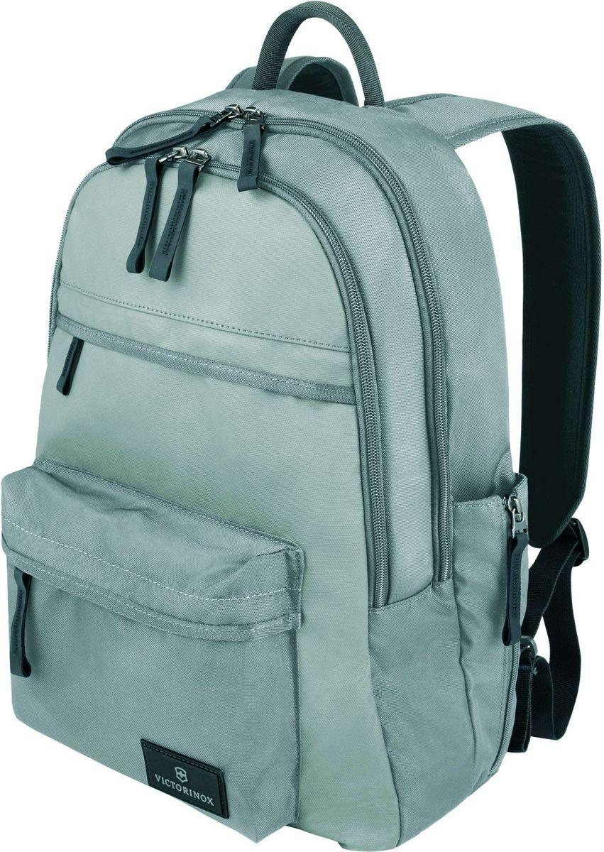Рюкзак Victorinox Altmont 3.0 Standard Backpack, цвет: серый. 3238840432388404Оригинальный швейцарский армейский нож «Swiss Army» был создан в 1897 году в небольшой деревушке Ибах в Швейцарии.С тех пор продукция,выпускаемая под маркой «Victorinox» с ее узнаваемым логотипом в виде креста на щите,по праву считается эталоном отличного качества,высокой функциональности,инновационных технологий и культового дизайна.Наша преданность принципам в течение последних 130 лет позволила нам создавать продукты,которые являются выдающимися не только по дизайну и качеству,но которые также являются надежными спутниками в больших и маленьких жизненных приключениях.Сегодня мы с гордостью представляем линейку сумок,чемоданов и дорожных аксессуаров,которые наилучшим образом воплощают в себе данные принципы,а также сочетают в себе черты нашего лучшего классического стиля.Индивидуальность-это то,что отличает вас от любого другого человека,с которым вы сталкиваетесь на улице,в поезде,с которым вы общаетесь в городе.Каждый день вашей жизни — это уникальный опыт,который никогда больше не повторится.Коллекция Altmont 3.0 создавалась с расчетом на индивидуальность.Неважно носите ли вы рюкзак,сумку-мессенджер или повседневную сумку — в коллекции Altmont 3.0 есть богатый выбор аксессуаров такой же многогранный,как и ваш индивидуальный стиль.Для вас просто не существуют такой вещи как «обычный день»,и также как и вы,наша коллекция справится с любой ситуацией.Прототип модели прошел целых 30 основательных и строгих испытаний,в ходе которых проводилась симуляция самых экстремальных сценариев и условий внешней среды,возможных в реальной жизни.Жесткий режим проводимых тестов гарантирует точность,прочность и износоустойчивость,т.е. все признаки высокого качества и эксплуатационных характеристик,которые покупатель ожидает от продукции «Victorinox».Далее каждое изделие проходит тщательный контроль сертифицированным техническим специалистом.В результате мы можем безоговорочно отвечать за качество нашей пр