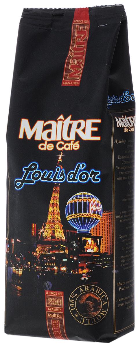 Maitre Луидор кофе молотый, 250 г блюз эспрессо форте кофе молотый в капсулах 55 г