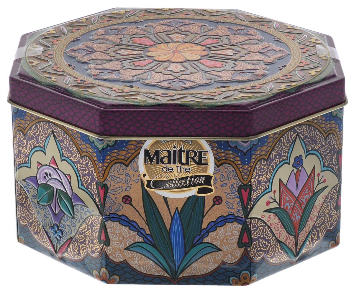 Maitre Магический цветок черный листовой чай, 90 г maitre de the де люкс зеленый листовой чай 65 г жестяная банка