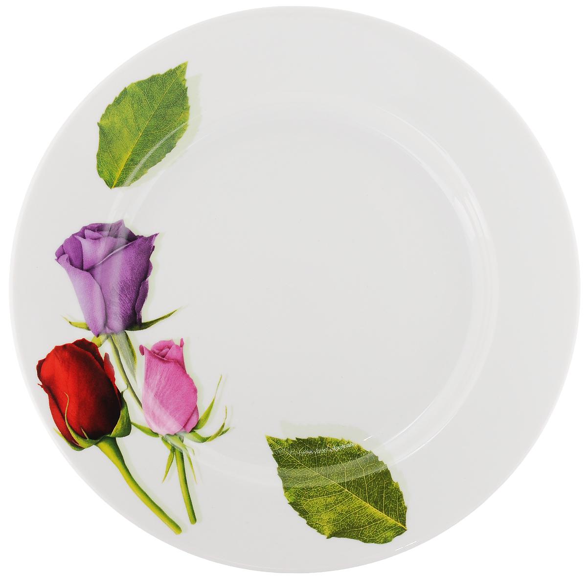 Тарелка Идиллия. Королева цветов, диаметр 24 см пиала добрушский фарфоровый завод королева цветов 500 мл