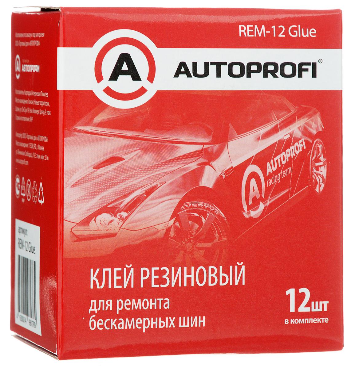 Купить Клей для ремонта бескамерных шин Autoprofi , 12 мл х 12 шт