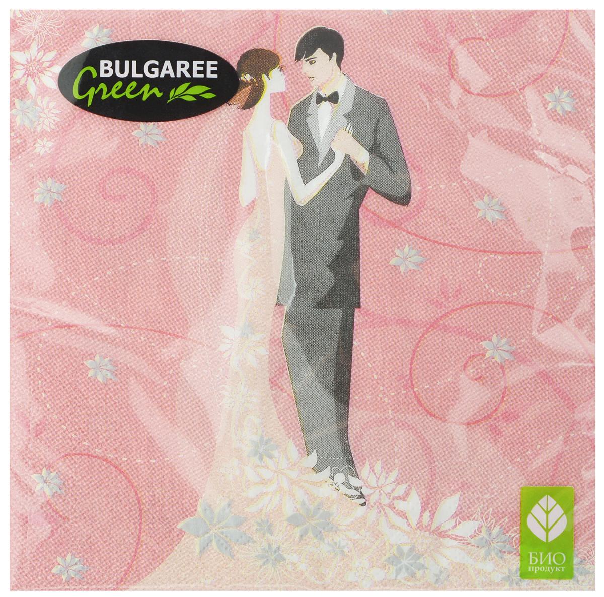 Салфетки бумажные Bulgaree Green Только ты, трехслойные, 33 х 33 см, 20 шт