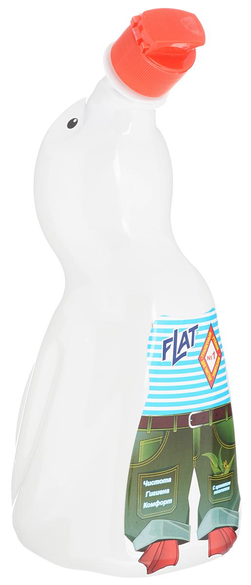 """Средство Flat """"Настоящий"""" утенок"""" предназначено для чистки унитазов,   фаянсовых раковин, никелированных изделий, кафеля. Удаляет ржавчину,   устойчивые загрязнения, отложения известкового камня. Устраняет неприятный   запах.Специальная форма носика флакона позволяет использовать средство на   труднодоступных поверхностях унитаза.Состав: вода, до 5% фосфорная кислота, до 5% щавелевая кислота, до 5% Н ПАВ,   неорганические добавки, ароматическая композиция, метилизотиазолинон,   хлорметилизотиазолинон.Товар сертифицирован.    Как выбрать качественную бытовую химию, безопасную для природы и людей. Статья OZON Гид"""