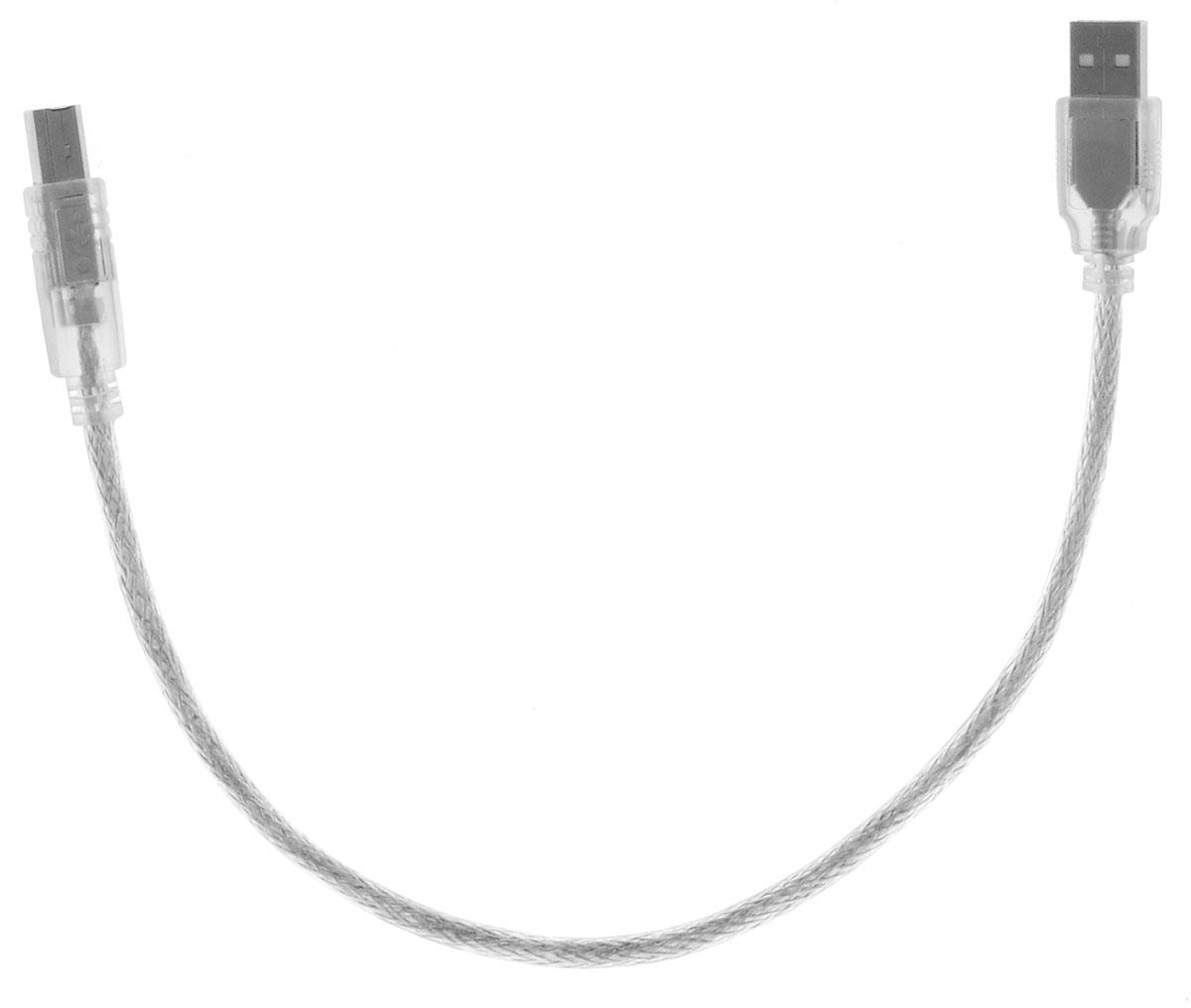Greenconnect Premium GCR-UPC2M-BD2S, Clear кабель USB 0.3 мGCR-UPC2M-BD2S-0.3mКабель Greenconnect Premium GCR-UPC2M-BD2S используется для подключения к компьютеру различных устройств с разъемом USB тип B, например, принтер, камеры, сканер, МФУ. Надежно работает со всеми моделями HP. Экранирование кабеля позволит защитить сигнал при передаче от влияния внешних полей, способных создать помехи.Пропускная способность интерфейса: USB 2.0 до 480 Мбит/сТип оболочки: PVC (ПВХ)