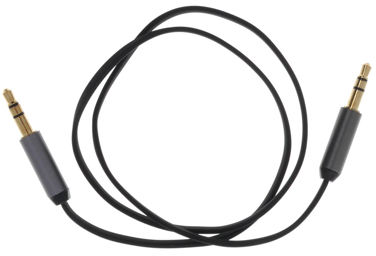Ugreen UG-10723, Black Silver кабель AUX 0.5 мUG-10723Кабель Ugreen UG-10723 может быть использован для подключения, например, гарнитуры с MP3-плеером,компьютера, DVD, TV, радио, CD плеер в которых есть данный аудиоразъем. Главное отличие этого аудио кабеля- мягкая оболочка и стильные металлические соединители. Прекрасное качество исполнения и экранированиепозволит избежать влияния помех при передаче сигнала.Толщина кабеля: 1,5 х 3,5 ммТип оболочки: ПВХ