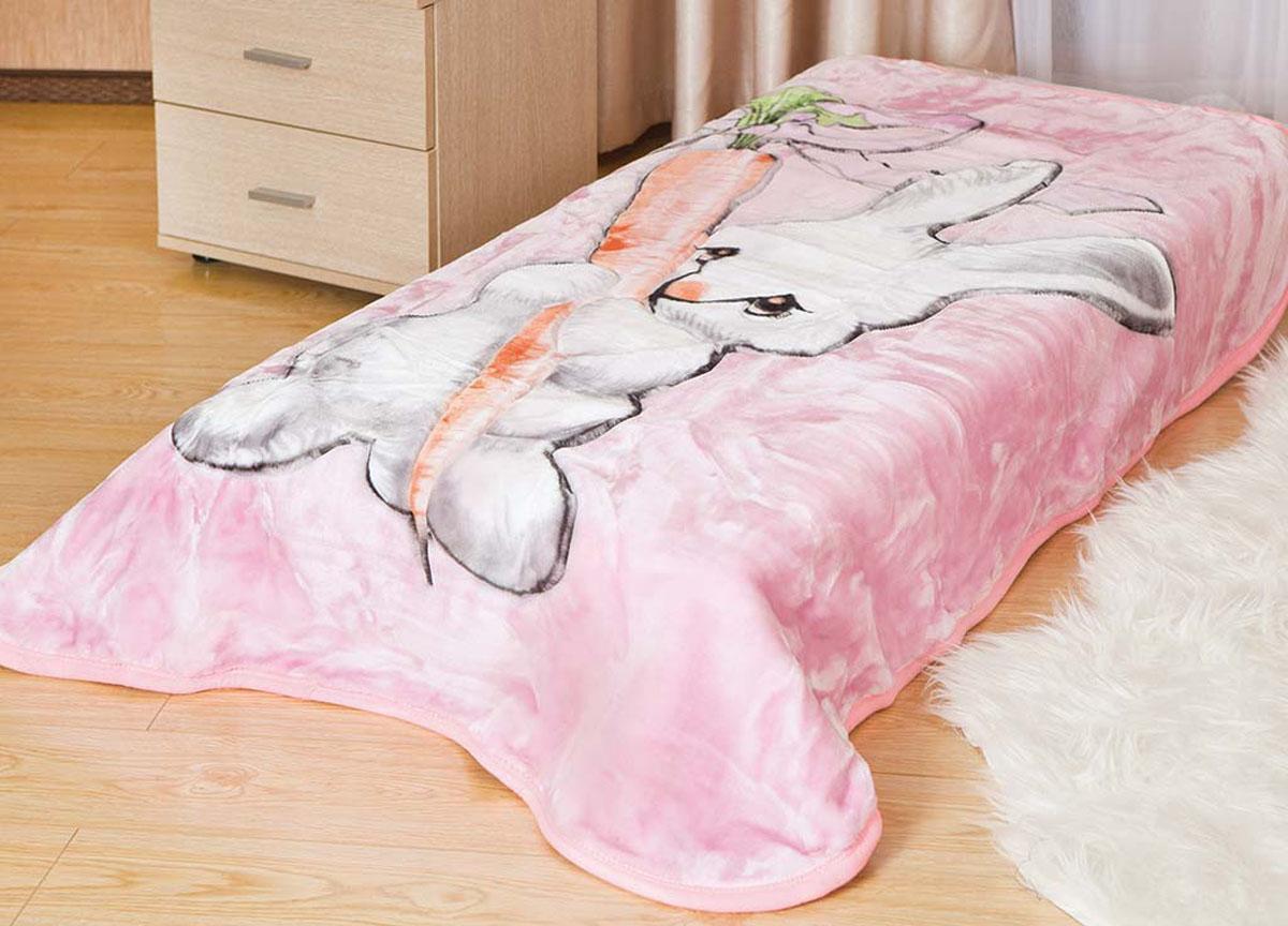 Плед Tamerlan, нестриженый, цвет: розовый, 110 х 140 см. 61313 плед toledo нестриженый цвет красный 110 х 140 см 75943