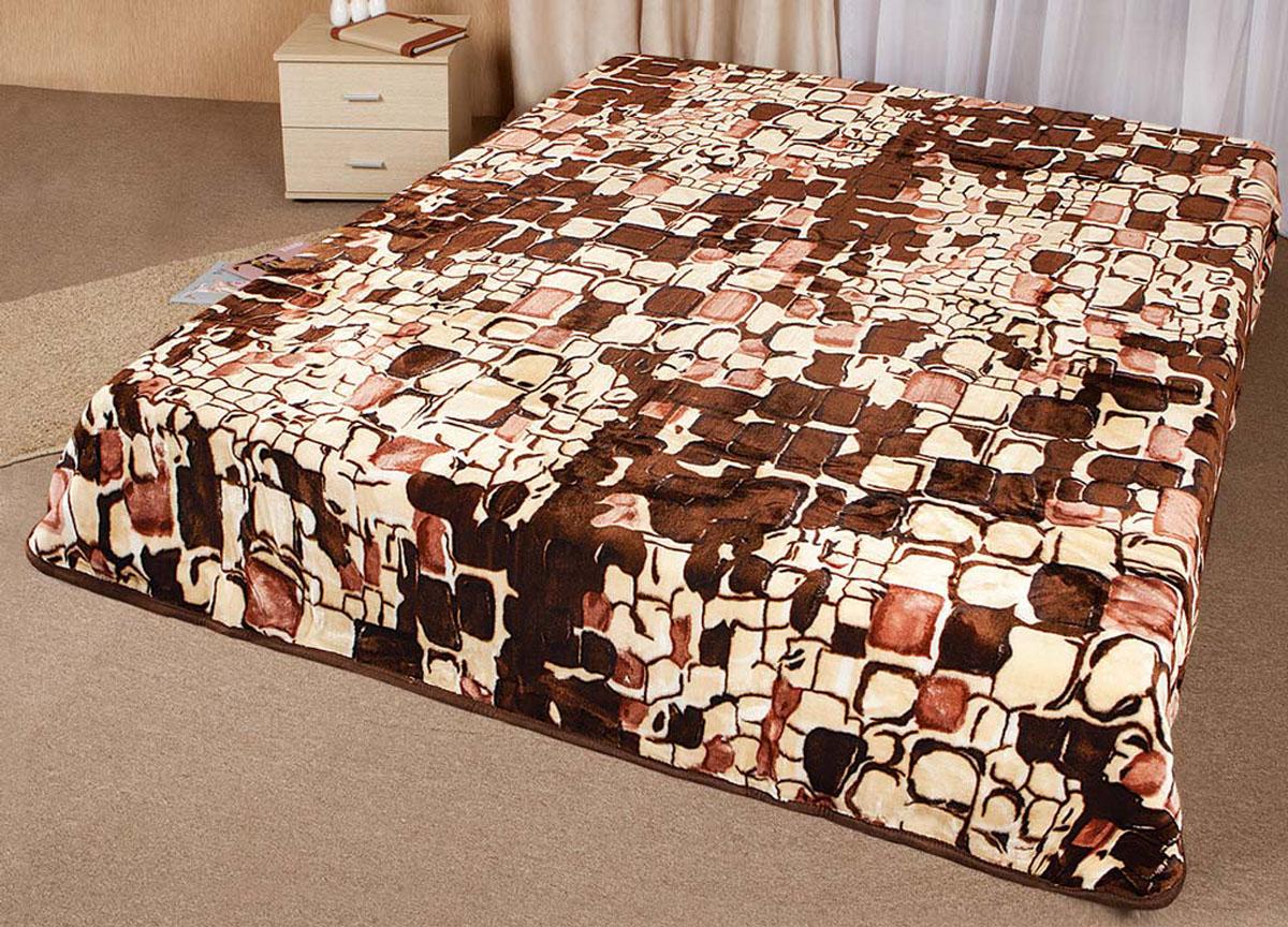 Плед Tamerlan, нестриженый, цвет: коричневый, 200 х 240 см. 63507 плед tamerlan плед payton 150х200 см
