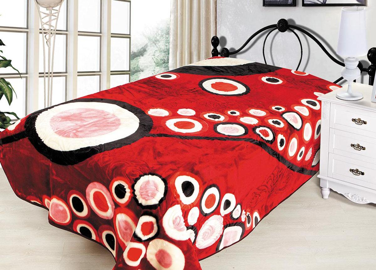 Плед Tamerlan, тисненый, цвет: красный, 160 х 220 см. 7046170461плотность 650 гр/м2