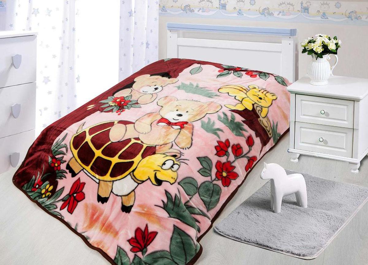 Плед ТД Текстиль Tamerlan, нестриженый, цвет: розовый, бордовый, 110 х 140 см. 7813478134Плед Tamerlan - это идеальное решение для интерьера детской комнаты! Он порадует вас легкостью, нежностью и оригинальным дизайном! Плед выполнен из 100% полиэстера.Полиэстер считается одной из самых популярных тканей. Это материал синтетического происхождения из полиэфирных волокон. Внешне такая ткань схожа с шерстью, а по свойствам близка к хлопку. Изделия из полиэстера не мнутся и легко стираются. После стирки очень быстро высыхают.Легкий плед Tamerlan - замечательный аксессуар, который подарит вашему малышу тепло и уют.Плотность 550 г/м2.