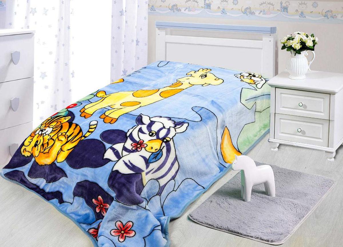 Плед Tamerlan, нестриженый, цвет: голубой, 110 х 140 см. 7813978139плотность 550 гр/м2