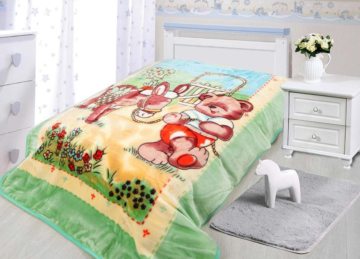 Плед  Tamerlan , нестриженый, цвет: зеленый, 110 х 140 см. 78140 - Детский текстиль