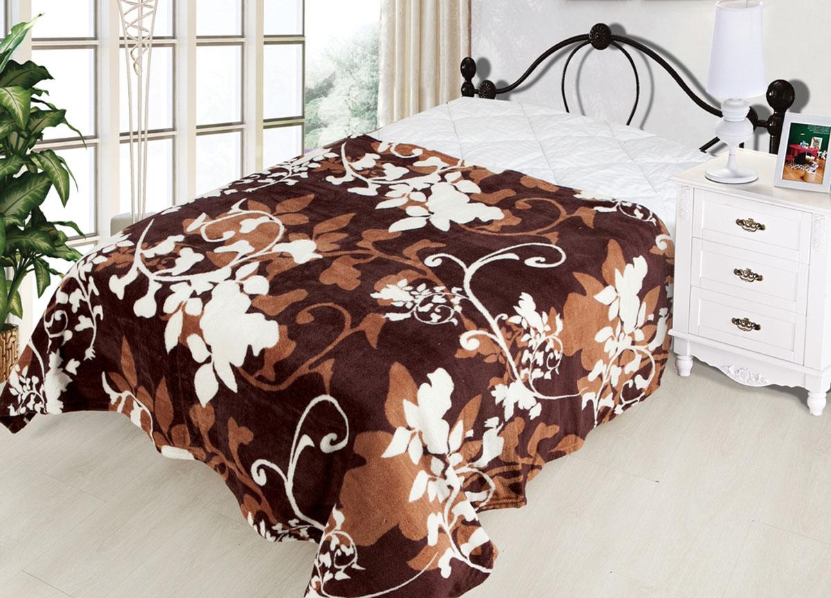 Плед ТД Текстиль Absolute, цвет: коричневый , 120 х 150 см. 81706