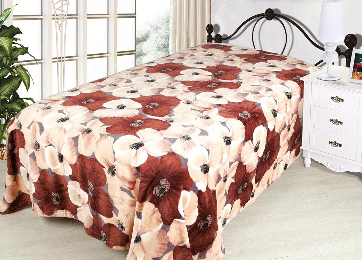Плед ТД Текстиль Absolute, цвет: коричневый , 120 х 150 см. 81708