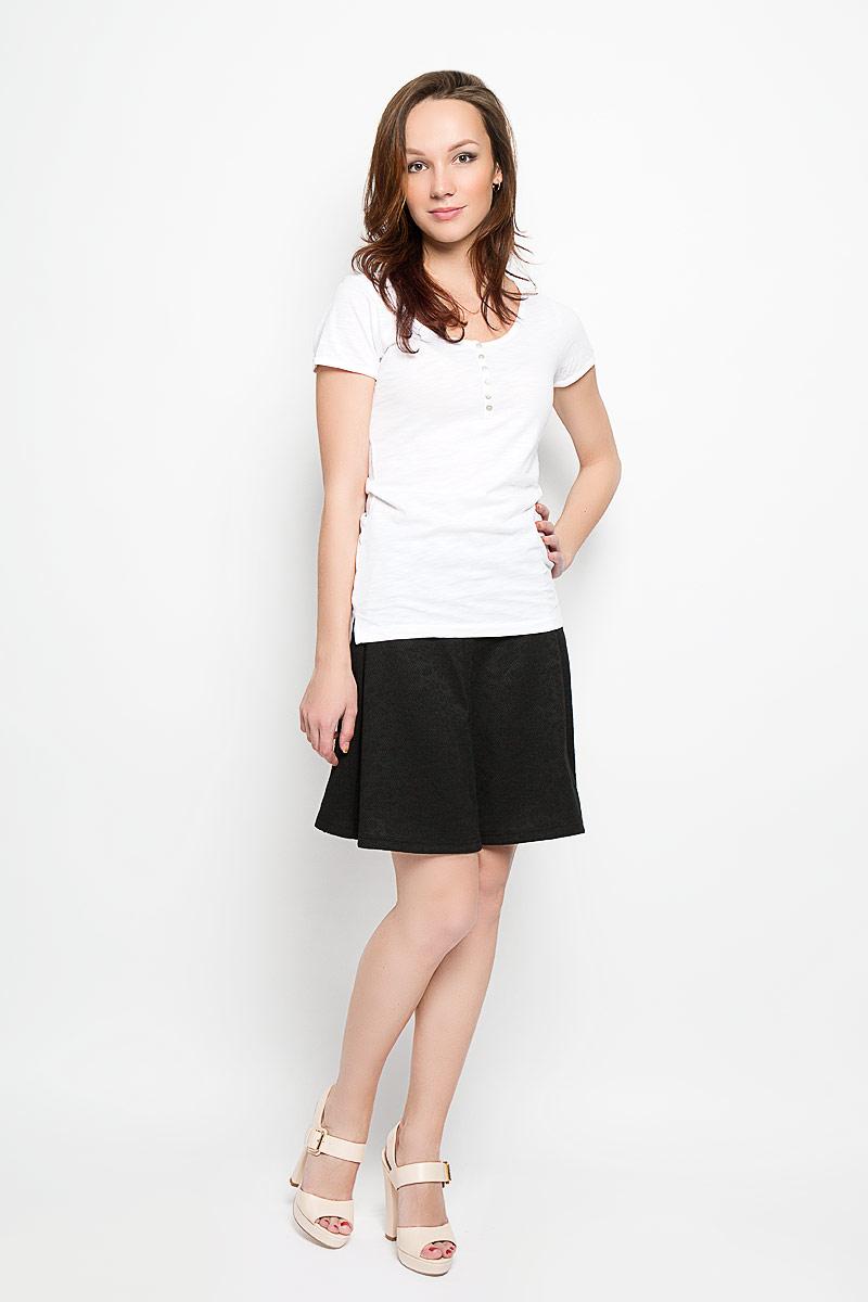 Футболка женская Moodo, цвет: белый. L-TS-2004 WHITE. Размер XL (50) футболка женская moodo цвет белый сиреневый серый l ts 2045 white размер m 46