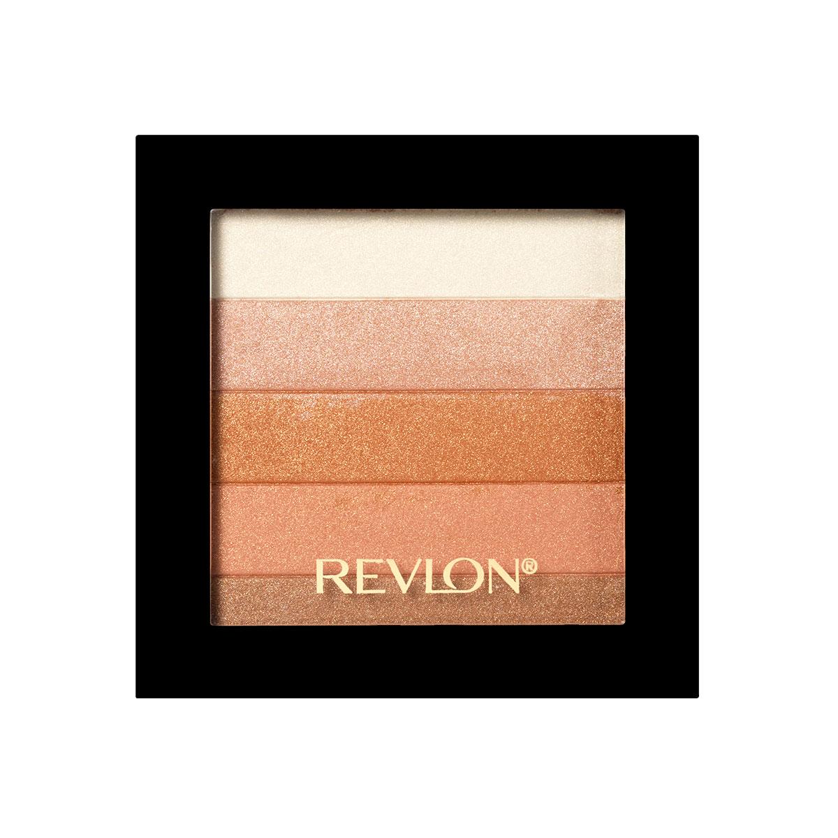 Revlon Палетка Хайлайтеров для Лица Highlighting Palette Bronze glow 030 40 г7210384003Revlon Highlighting Palette - это пленительная гамма цветов, представленных в одной палетке. Входящие в ее состав сияющие оттенки чудесным образом гармонируют друг с другом, освежая цвет лица и придавая ему оттенок легкого загара. Используйте палетку хайлайтеров для того, чтобы с помощью мерцающих частиц зрительно улучшить внешний вид кожи, придав ей свечение.нанесите хайлайтер с помощью кисти на выступающие части лица: верхнюю часть скул, спинку носа, галочку над верхней губой.