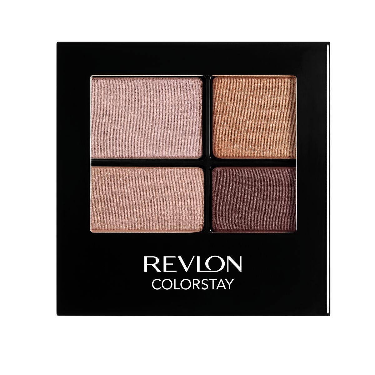 Revlon Тени для Век Четырехцветные Colorstay Eye16 Hour Eye Shadow Quad Decadente 505 42 г7210767002Colorstay 16 Hour Sahdow - роскошные тени для век с шелковистой текстурой и невероятно стойкой формулой. Теперь ваш макияж сохранит свой безупречный вид не менее 16 часов! Все оттенки гармонично сочетаются друг с другом и легко смешиваются, позволяя создать бесконечное количество вариантов макияжа глаз: от нежных, естественных, едва заметных, до ярких, выразительных, драматических. На оборотной стороне продукта приведена схема нанесения.Аккуратно нанести на веки специальной кисточкой.