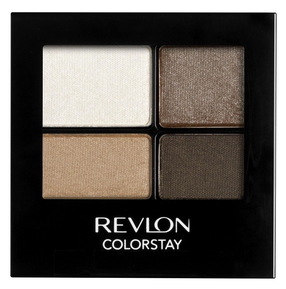 Revlon Тени для Век Четырехцветные Colorstay Eye16 Hour Eye Shadow Quad Moonlit 555 4,8 г7210767012Colorstay 16 Hour Sahdow - роскошные тени для век с шелковистой текстурой и невероятно стойкой формулой. Теперь ваш макияж сохранит свой безупречный вид не менее 16 часов! Все оттенки гармонично сочетаются друг с другом и легко смешиваются, позволяя создать бесконечное количество вариантов макияжа глаз: от нежных, естественных, едва заметных, до ярких, выразительных, драматических. На оборотной стороне продукта приведена схема нанесения.Аккуратно нанести на веки специальной кисточкой.